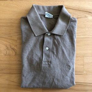 Brooks Brothers tan polo shirt
